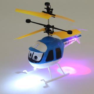 【READY STOCK】AN Cảm ứng Bay RC Máy bay trực thăng Phim hoạt hình Điều khiển từ xa Drone Kid Máy bay đồ chơi
