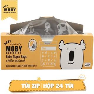 Túi zip đa năng Baby Moby (24 túi hộp)