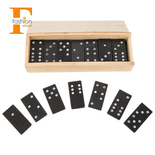 ~stock~28 Pcs/Set Wooden Domino Board Table Game Children Educational Toys