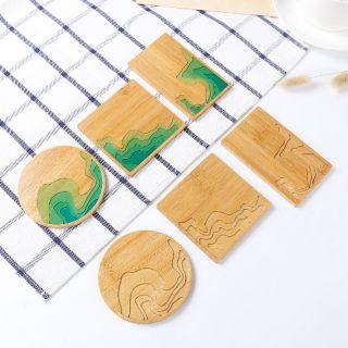 Tấm Tre Khắc CNC Bậc Thang – Làm Đế Ly Coffee Phong Cách