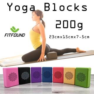 [Mã FAMAYMA giảm 10K đơn từ 50K] Gạch tập yoga xốp Eva nặng 200g in hoa mandala - Yoga blocks FITFOUND