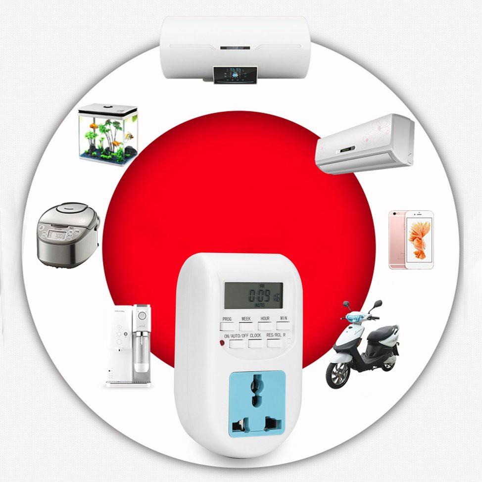 Ổ cắm hẹn giờ kỹ thuật số tiết kiệm điện cho gia đình