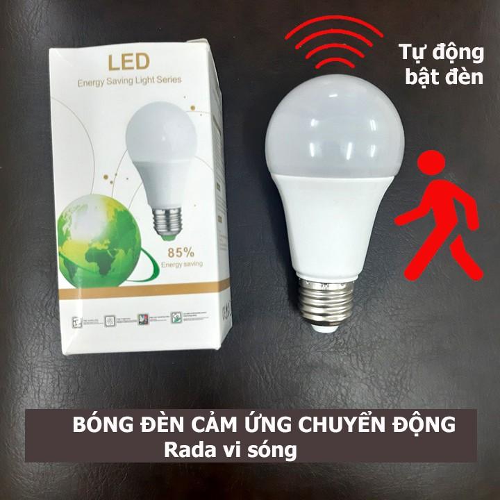 Bóng đèn cảm ứng chuyển động rada vi sóng tự động bật tắt đèn khi có người đi qua