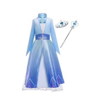 NNJXD Bộ đầm công chúa Hóa Trang Công Chúa Elsa Trong Phim Frozen 2 Cho Bé Gái