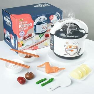 Bộ Đồ Chơi Nồi Cơm Điện Thông Minh Phun Hơi Nước- Mô Phỏng Nấu Ăn Nhà Bếp