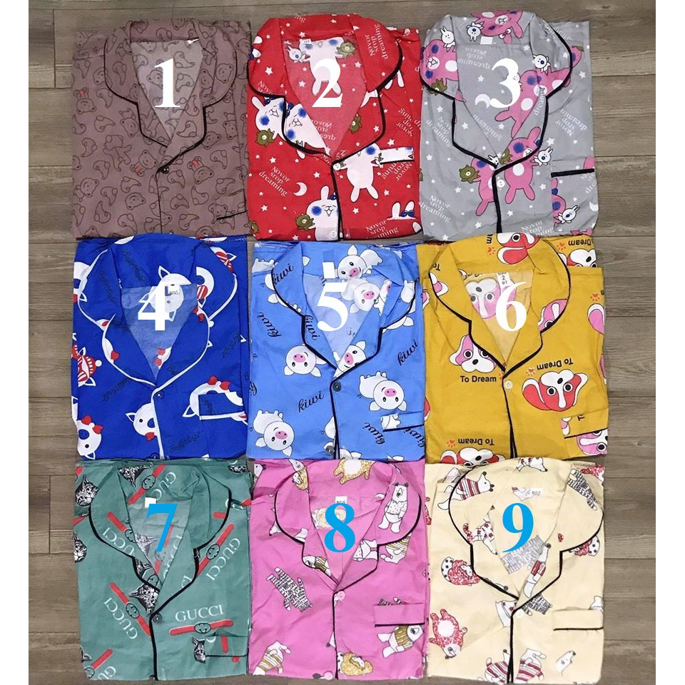 [Mã WASEPRN hoàn 20% xu đơn 99k] [Ảnh thật] Bộ Pijama lửng Kate Thái siêu rẻ size<60kg