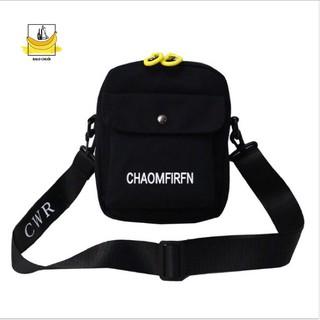 [HÌNH THẬT] Túi đeo chéo thời trang - CHAOMFIRFN - màu đen
