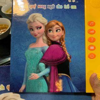 Sách điện tử song ngữ Việt Anh hình công chúa/ siêu nhân