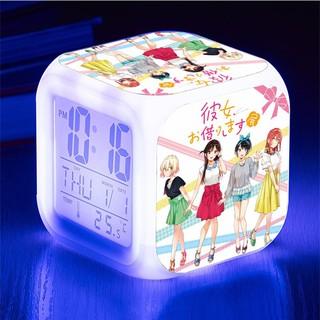 Đồng hồ báo thức để bàn in hình Kanojo Okarishimasu DỊCH VỤ THUÊ BẠN GÁI anime chibi