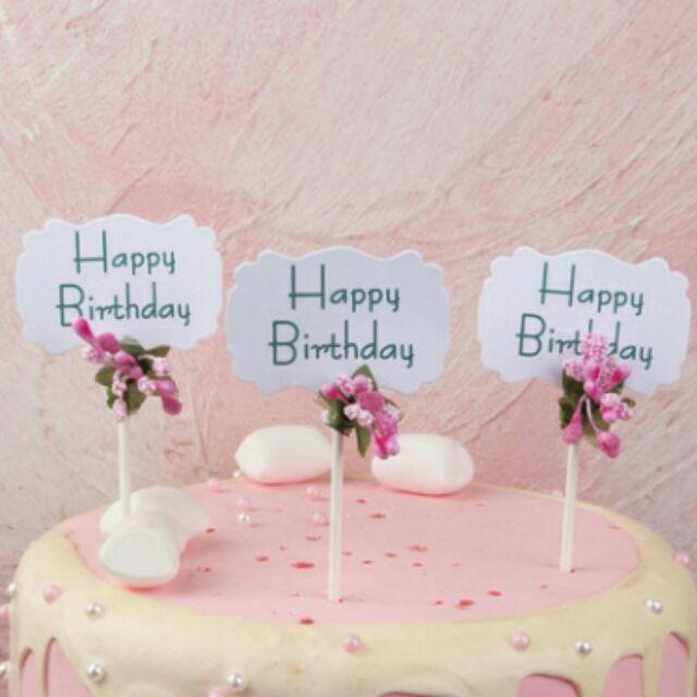 Que cắm bánh sinh nhật 3 que /1set