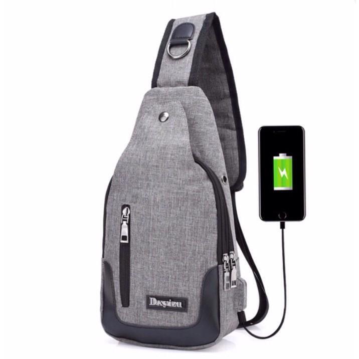 Túi Đeo Chéo USB Tiện Dụng