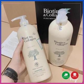 Cặp 2 Dầu gội xả phục hồi và kích thích mọc tóc Biotin & Collagen thumbnail