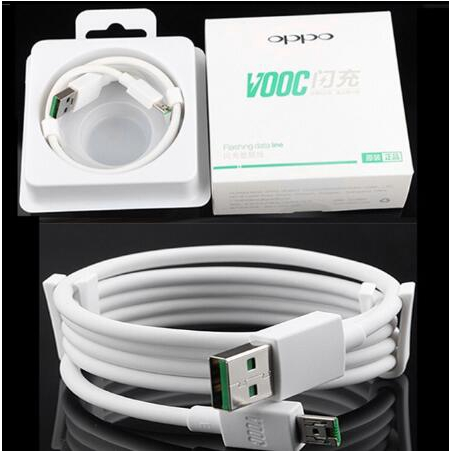 สายข้อมูล Lighting Cable 4A Data Line OPPO VOOC Fast Charging Quick Charger Android Micro Usb 1M