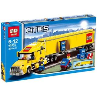 Bộ Xếp Hình Lego 3221 Xe Container Lepin 02036 – Quà Cho bé trai