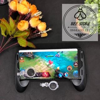 [ Có Video ] Tay cầm chơi game có nút hỗ trợ di chuyển và tản nhiệt cho điện thoại (tặng kèm stick phụ và khăn lau)