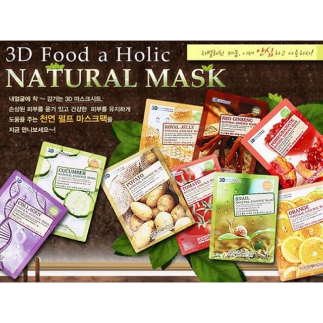 Combo 100 miếng măt nạ 3D Foodaholic - 2784260 , 867856708 , 322_867856708 , 450000 , Combo-100-mieng-mat-na-3D-Foodaholic-322_867856708 , shopee.vn , Combo 100 miếng măt nạ 3D Foodaholic