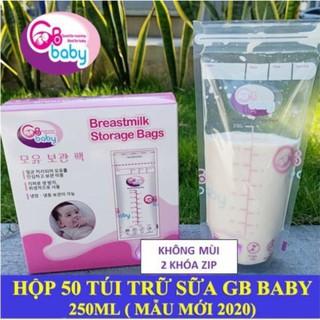 [ Mẫu mới] Hộp 50 túi trữ sữa Gb – Baby 250ml Hàn quốc an toàn cho bé
