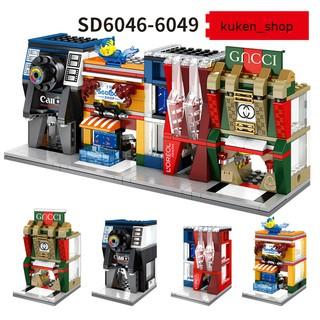 COMBO 4 Bộ Lắp Ráp Các Cửa Hàng Cửa Hiệu Nổi Tiếng Sembo SD6046 SD6047 SD6048 SD6049