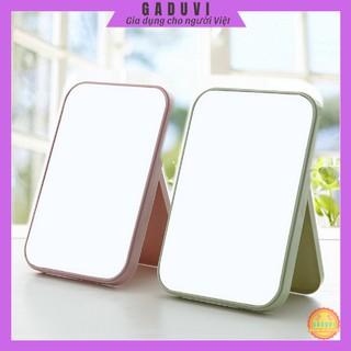 Gương Để Bàn Trang Điểm GADUVI, Gương Soi Để Bàn Mini Nhỏ Gọn, Thiết Kế Thời Trang
