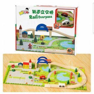 Bộ đồ chơi ghép mô hình giao thông bằng gỗ