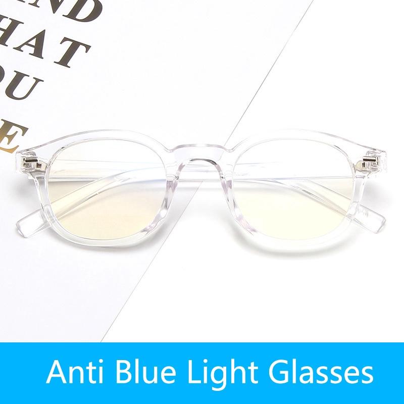 2019 Fashion Anti Blue Light Glasses Polygonal Vintage Cermin Mata