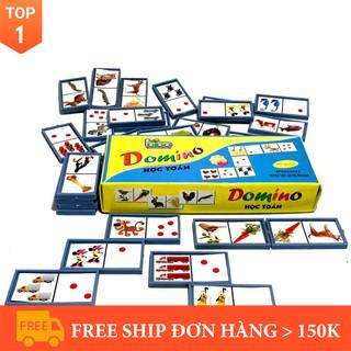 [Đồ chơi sáng tạo] [Nhập mã TOYBRAND7 giảm 70K]Đồ Chơi Domino Giúp Bé Học Toán Bibo