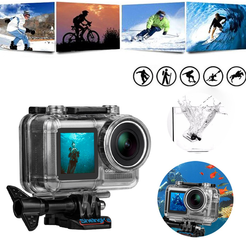 New Sports Camera Waterproof Housing Case Shell Diving 45M For DJI Osmo Action
