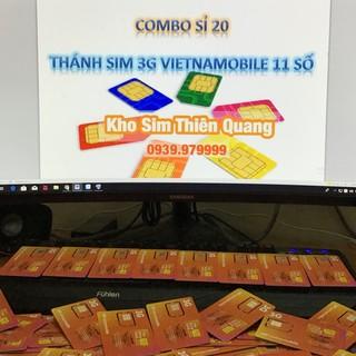 Combo 20 Thánh sim 11s giá sỉ Free 4GB /ngày, thánh sim giá rẻ, Thánh sim 3G Vietnammobile