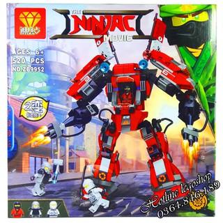Bộ Lego Xếp Hình Ninjago Siêu Robot. Gồm 520 Chi Tiết. Lego Ninjago Lắp Ráp Đồ Chơi Cho Bé