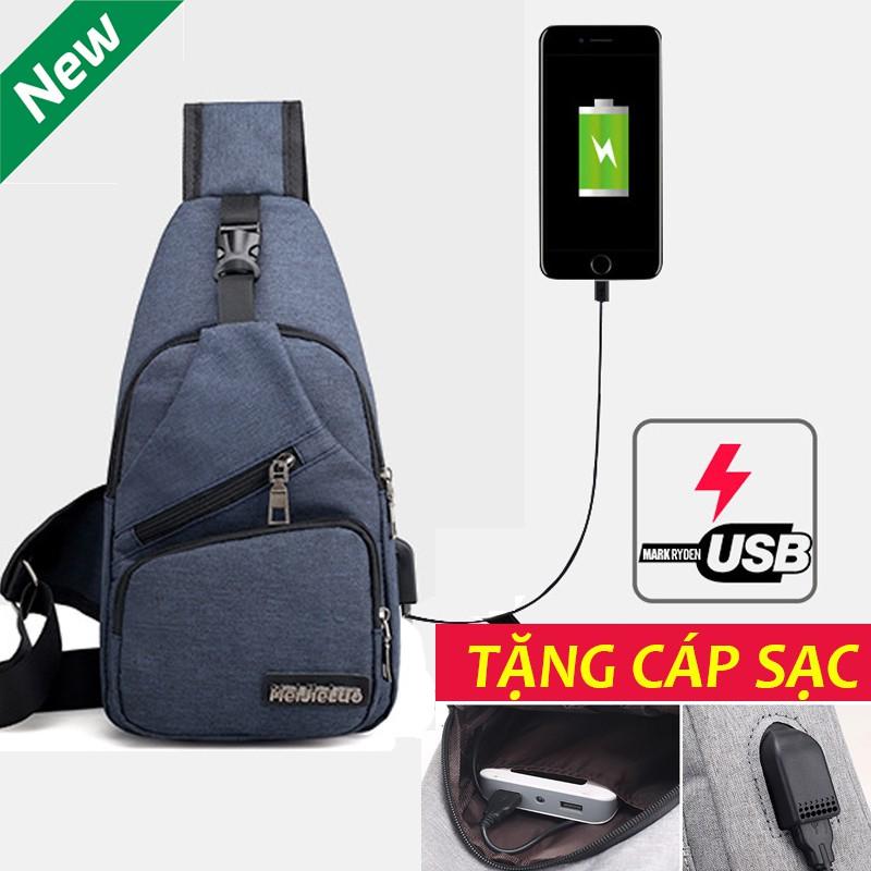 [FREESHIP 99K TOÀN QUỐC_]- TXN03 Túi đeo chéo unisex cao cấp thời trang hàn quốc có cổng sạc USB - TXN03