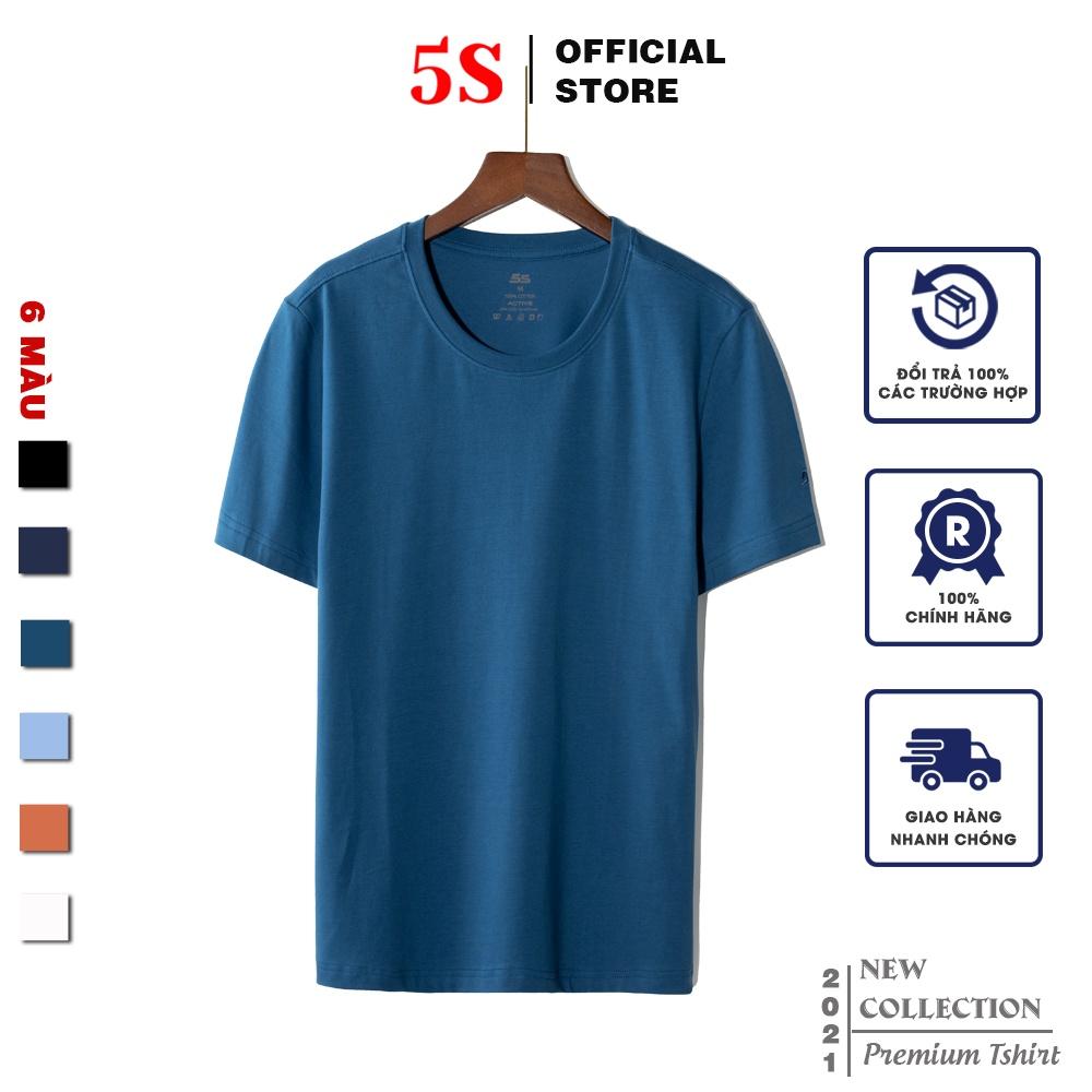 Áo Thun Nam Tay Ngắn 5S Premium (6 màu), Chất Liệu Thun Mềm, Mát, Bền Màu (TSO21004-01).
