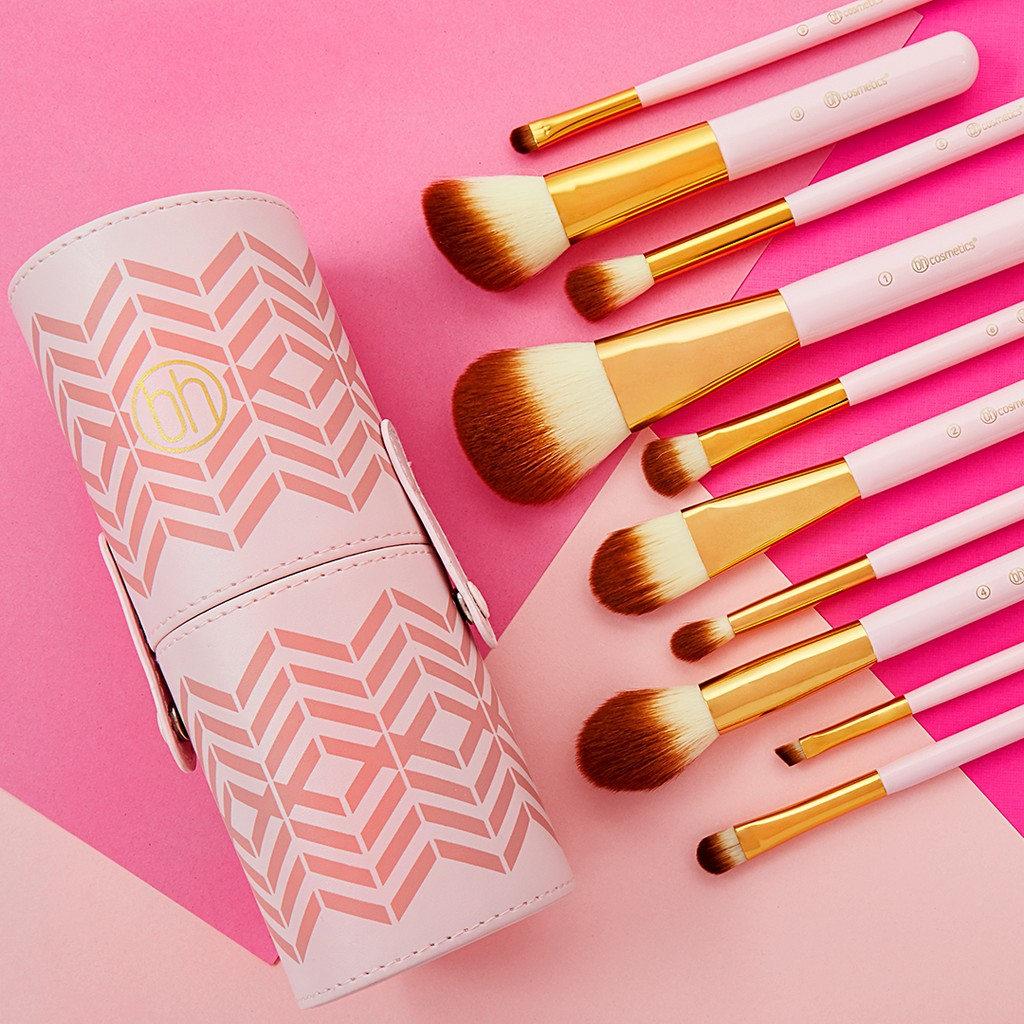 Tách set Bộ cọ BH Cosmetics Pink Perfection - 10 Piece Brush Set ...