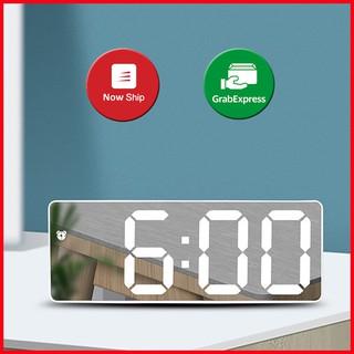 Đồng hồ led để bàn màn gương, hiển thị thời gian, nhiệt độ, chuông báo thức, cảm biến tự động mã G0712