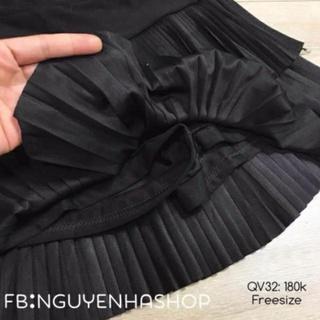 Chân váy li tầng Quảng Châu hót