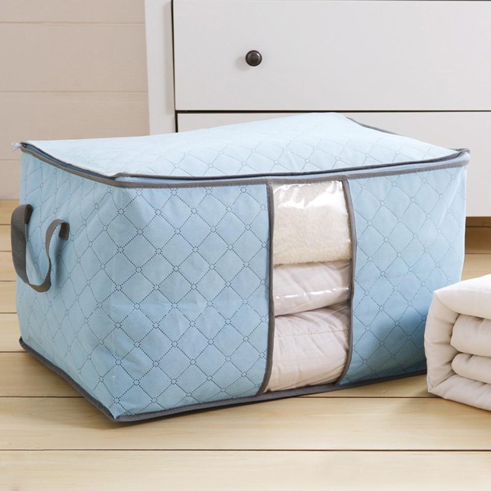 Túi vải đựng chăn màn quần áo tiện dụng (giao màu ngẫu nhiên)