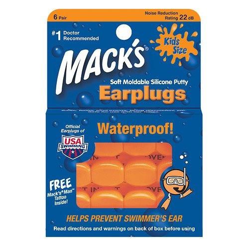 Bộ 6 cặp nút bịt tai bằng silicon cho trẻ em Mack