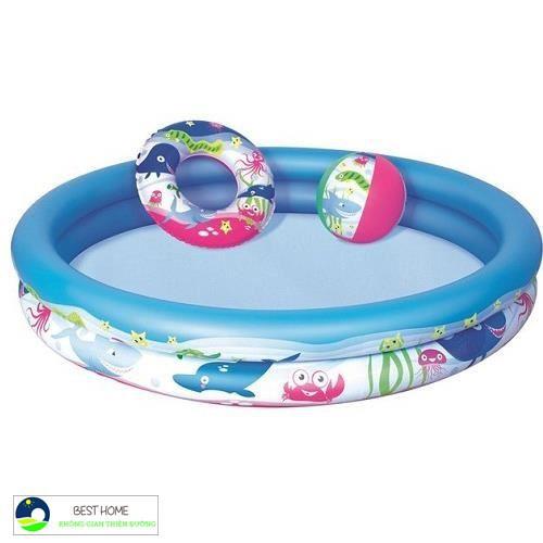 Giá Xuất Xưởng -Bể bơi phao cho bé 3 chi tiết + xúc cát + bộ câu cá + 100 bóng ( banh )- SH1221