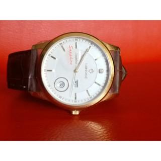 Đồng hồ nam siêu mỏng Sunrise 2 lịch kính Sapphire chống xước chống nước tốt - Fullbox chính hãng Ảnh thật