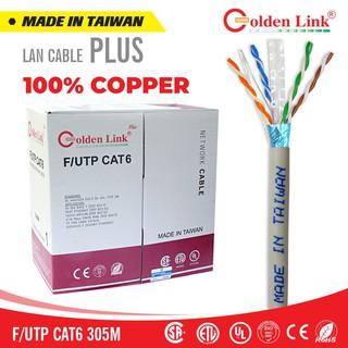 CÁP MẠNG CAT6 F UTP (305M) TRẮNG GOLDEN LINK PLUS thumbnail