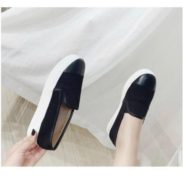 Giày slipon vá mũi