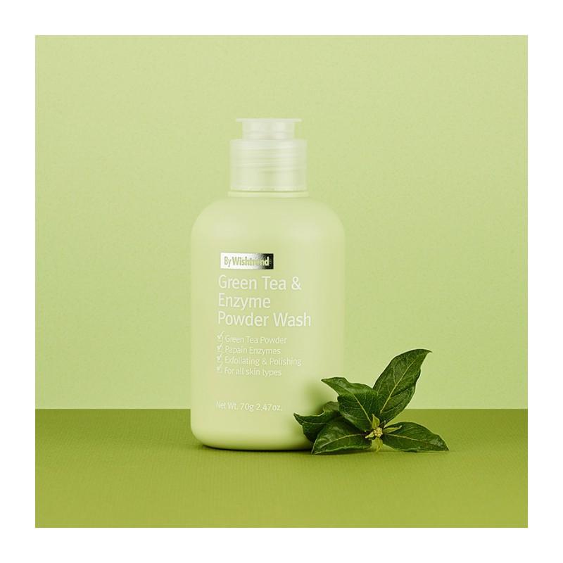 Kết quả hình ảnh cho Sữa rửa mặt Wishtrend Green Tea Enzyme Powder Wash 70g
