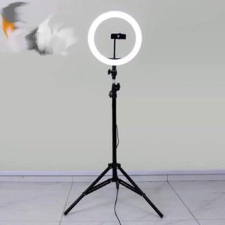 Đèn livetream chụp ảnh , bán hàng size 32cm kèm kẹp đt, chân đèn