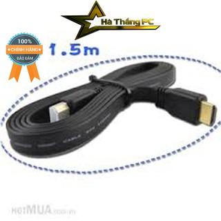 [Mã ELORDER5 giảm 10K đơn 20K] Dây HDMI 1,5M, 3M, 5M, 10M dẹt chống nhiễu