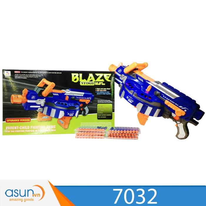 Hộp Đồ Chơi Súng Bắn Đạn Xốp Soft Gun Blaze Storm 7032