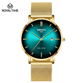 [Tặng vòng tay]Đồng hồ nam NIBOSI chính hãng NI2362.05H Fullbox dây đeo hợp kim