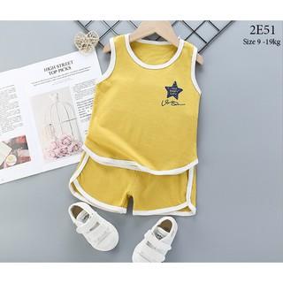 Set bộ quần áo ba lỗ cho bé trai bé gái (từ 1 - 8 tuổi) VEMZKIDS 6 mẫu hè thumbnail