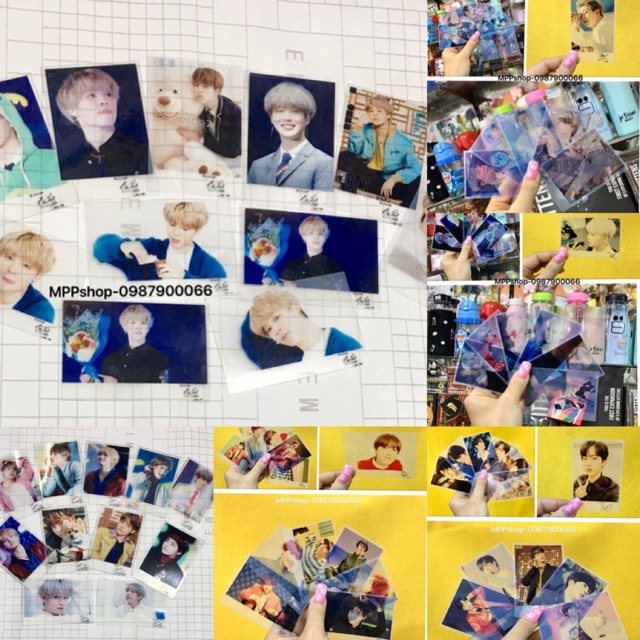 Combo 7 card trong BTS 7 thành viên khác nhau có chữ ký