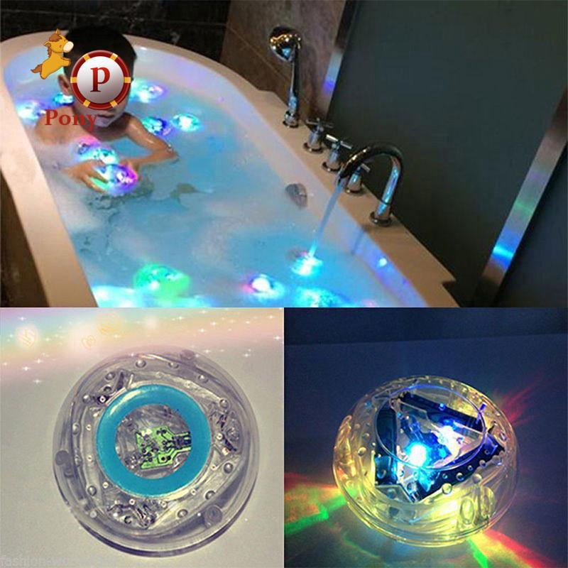 Underwater LED Light Glow Pond Swimming Pool Floating Lamp Bulb Child Bath Babys
