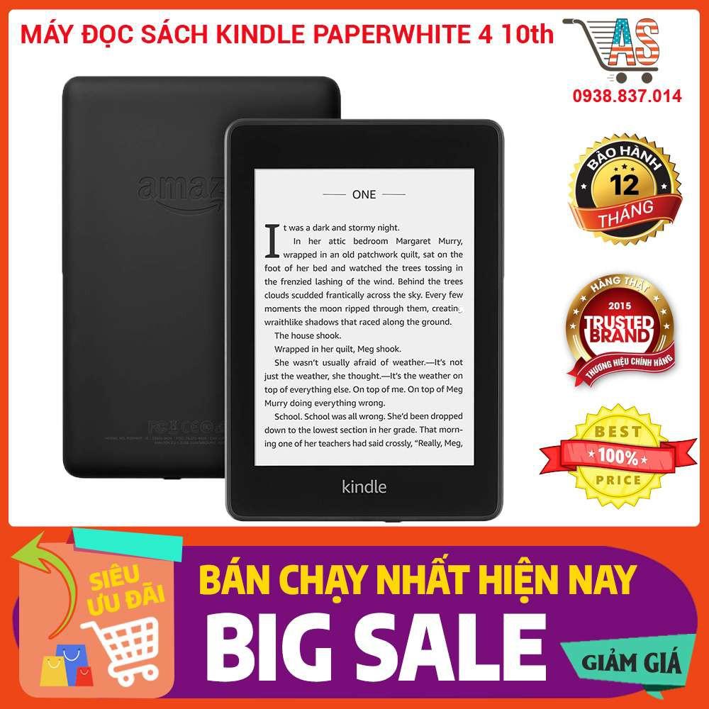 Máy đọc sách All new Kindle PaperWhite gen 4 2019 (10th) tặng cover hoặc bao chống sốc