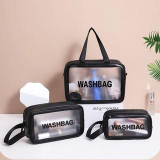 Túi đựng mỹ phẩm, đồ trang điểm du lịch washbag trong suốt, chống thấm nước HL8 thumbnail